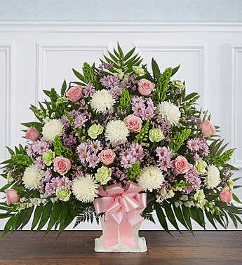 Heartfelt Tribute™ Floor Basket- Pastel