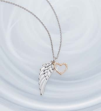Crislu Angel Wing Necklace