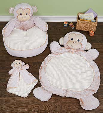Marlow Monkey Baby Gift Set- Mat, Luvster & Chair