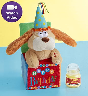 Animated Happy Birthday Dog and Candle