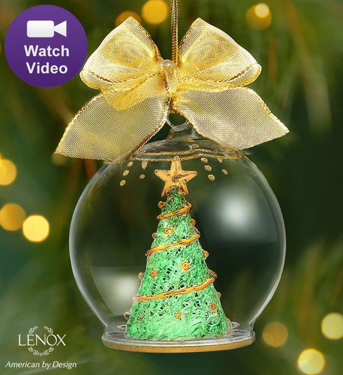 Lenox ® Majestic Holiday Tree Wonderball Ornament
