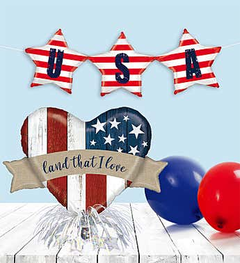 Patriotic Balloon Party Kit