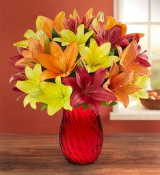 Autumn Lily Bouquet: Double Your Bouquet for Free