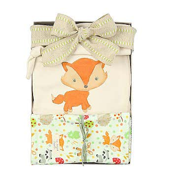 I've Arrived Organics Baby Gift Box Fox
