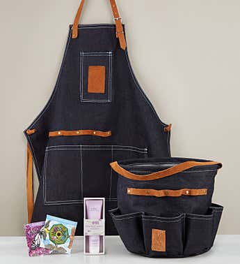 Green Thumb Gardener's Denim Gift Set