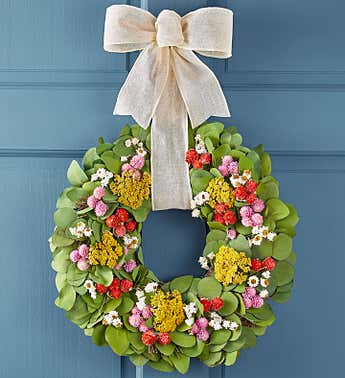 Floral Meadow Preserved Wreath-16""