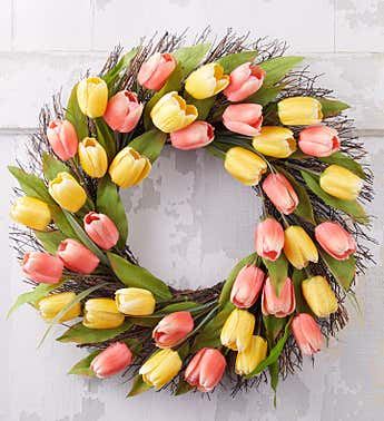Spring Tulip Wreath - 24""