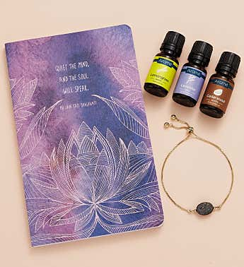Quiet the Mind Journal & Aromatherapy Gift Set