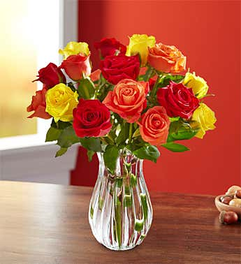 Assorted Fall Roses, 18 Stems