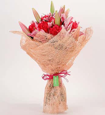 Mixed Lilies and Carnations Bouquet