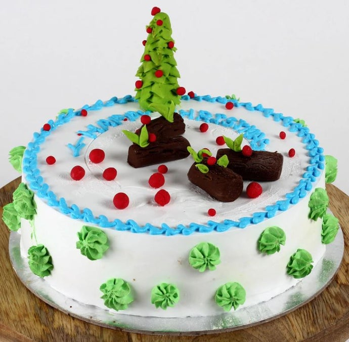 Christmas Tree Theme Chocolate Cake
