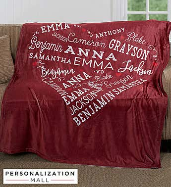 Personalized Close to Her Heart Plush Blanket