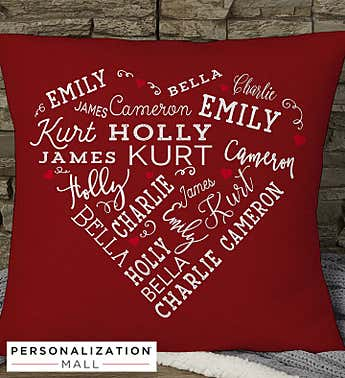 Personalized Close to Her Heart Pillow