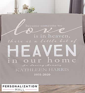 Heaven In Our Home Personalized Blanket