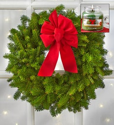 Christmas Wreath + Free Yankee Candle