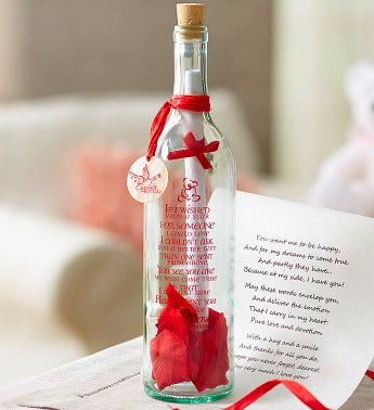 Personalized Message In A Bottle ® Bear Hugs
