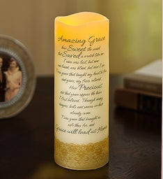 Amazing Grace Flameless Candle