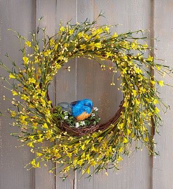 Blooming Buttercup Faux Wreath - 22