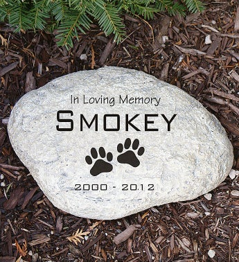 Personalized Pet Memorial Garden Stone