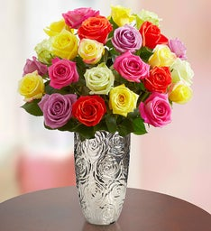 Two Dozen Assorted Roses, Buy 12 Get 12 Free