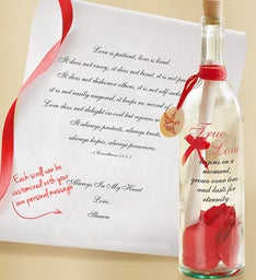 Personalized Message in a Bottle® True Love