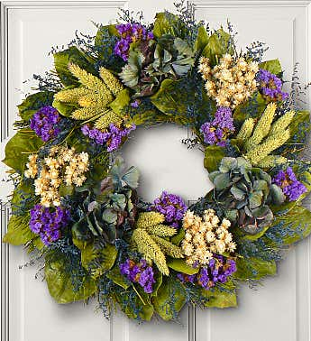 Preserved Jewel of Provence Wreath - 16""