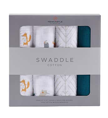 Cotton Swaddle Four Pack