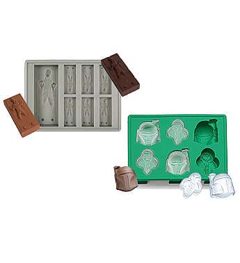 Star Wars Ice Trays - 2 Pack, Boba Fett And Han Solo