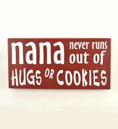Nana Hugs & Cookies Wall Quote