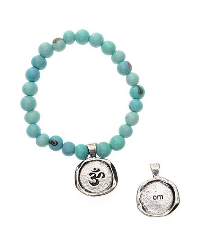 Seeds Of Life Wax Seal Bracelet - Om