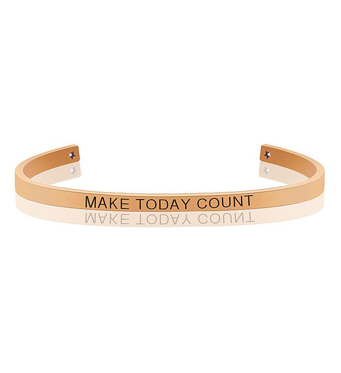 Anavia - Make Today Count Motivational Cuff Bangle Bracelet