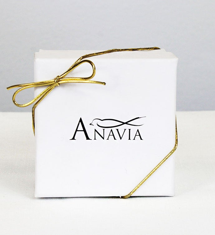 "Anavia - ""choose Joy"" 4-sided Bar Stainless Steel Necklace"