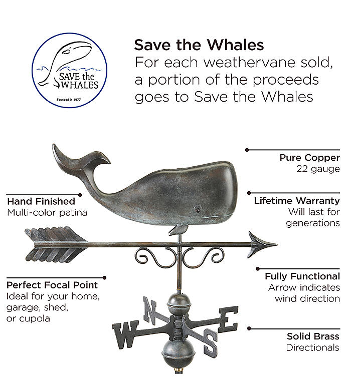 Save The Whales™ Weathervane