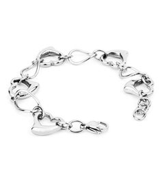 Open Hearts Oval Link Bracelet