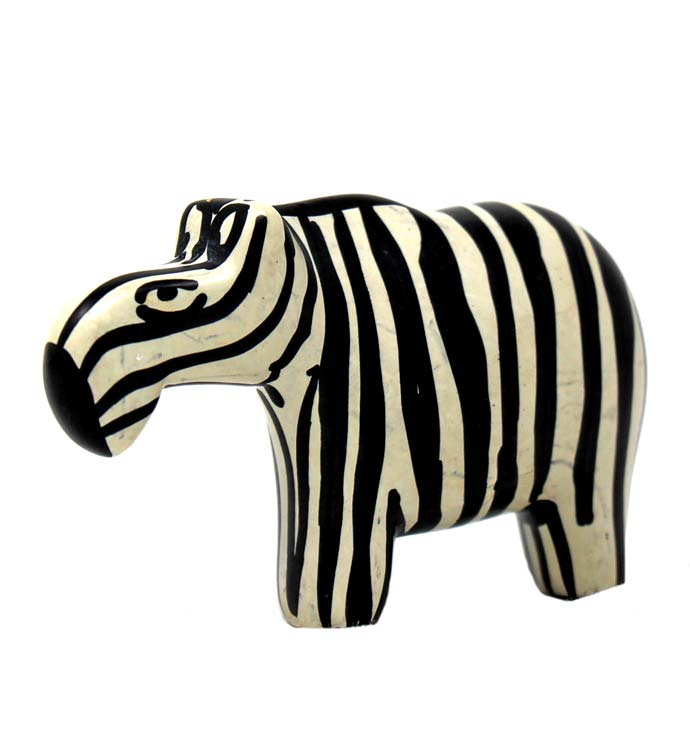 Hand-carved Yin-yang Zebra Soapstone Statues