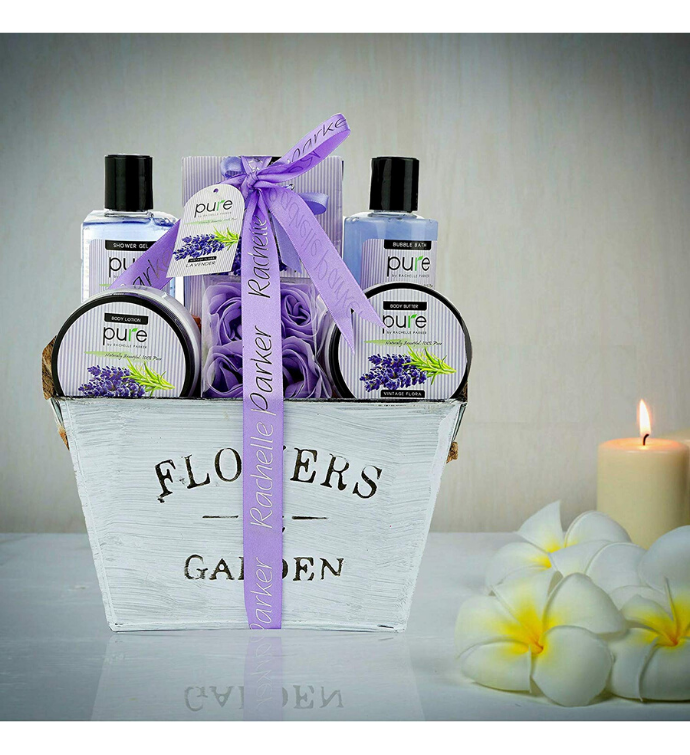 Premium Deluxe Large Lavender Spa Gift Basket